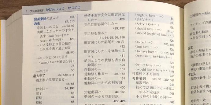 表現のための実践ロイヤル英文法の文法事項索引